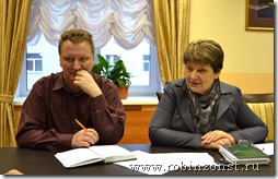 Депутаты Александр Степанов и Александра Спиридонова
