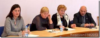 Претенденты на Главу района слева направо И.Каковка Г.Трубицина  Л.Глытенко не выдвигалась А.Баев
