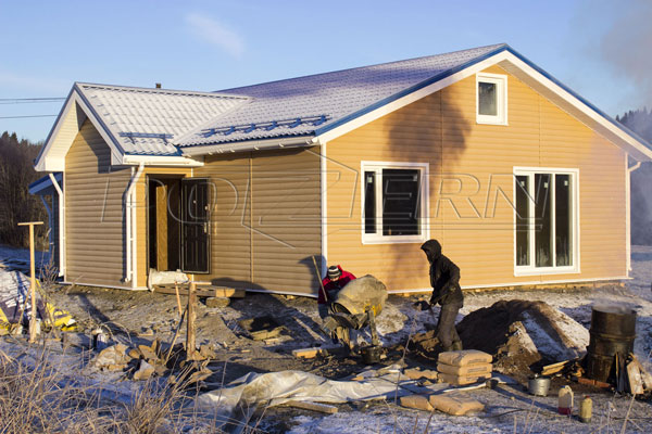 Фирма POZERN строит дом в Импилахти