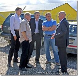 С министром сельского хозяйства на форелеводческом компелексе Калоа-Ранта