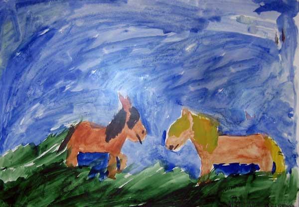 ослик и лошадь - Мирьям Каупринен