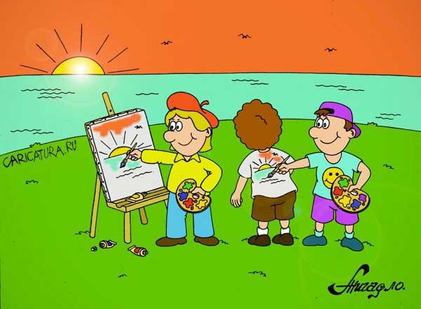 Дети рисуют праздник